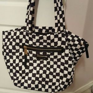 Juicy Couture Nylon Checkered Tote